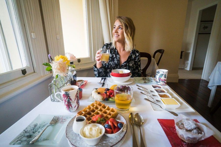Women Enjoying a Delcious Breakfast
